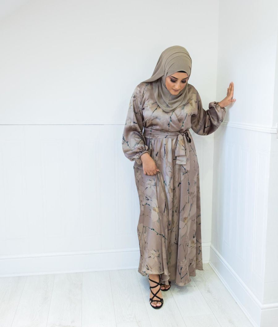 Amal Wrap Taupe pearl Orchid