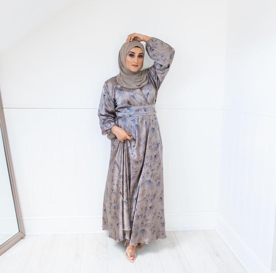 Amal Wrap Grey Blue flared