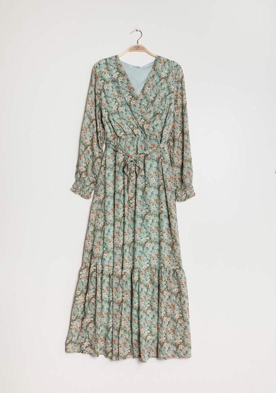 Summer Haze mint tea party dress