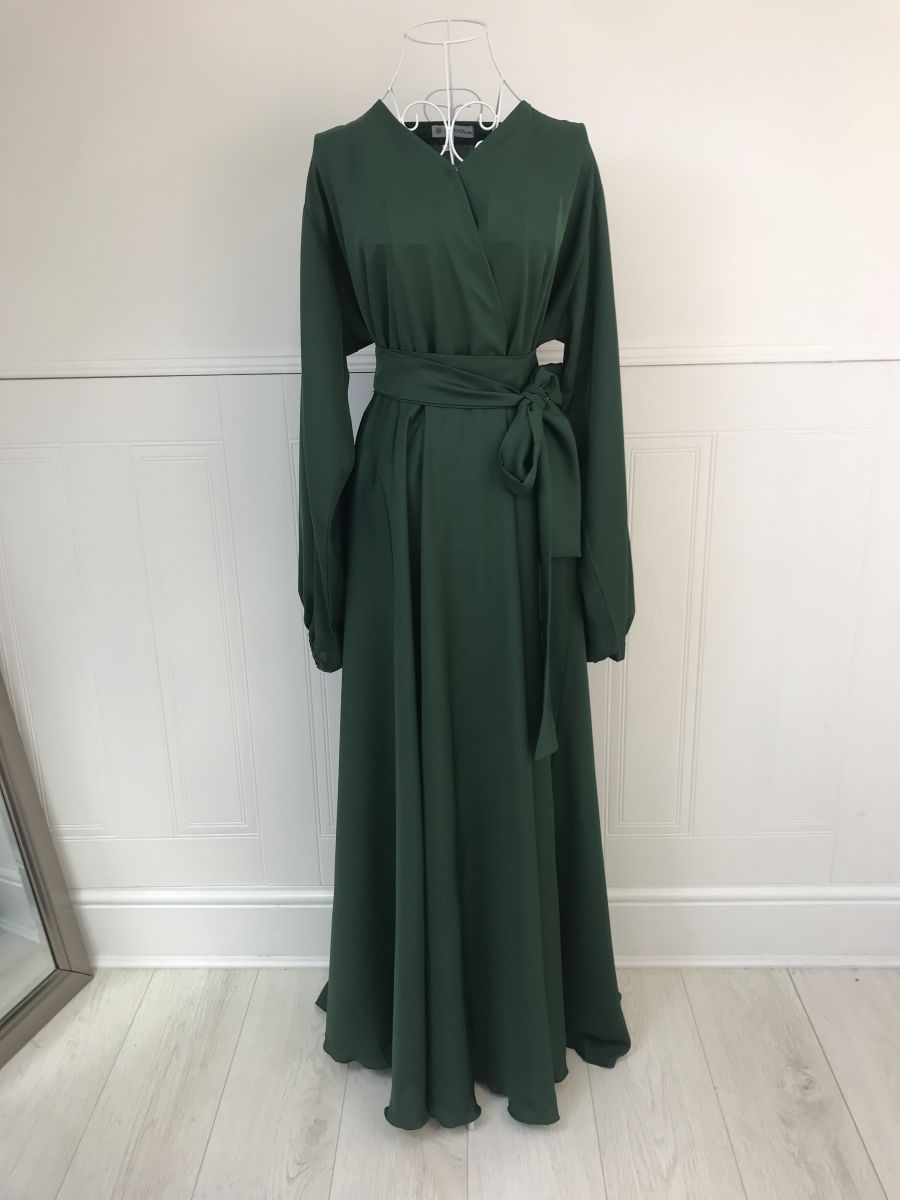 Amal wrap flare Forest Green