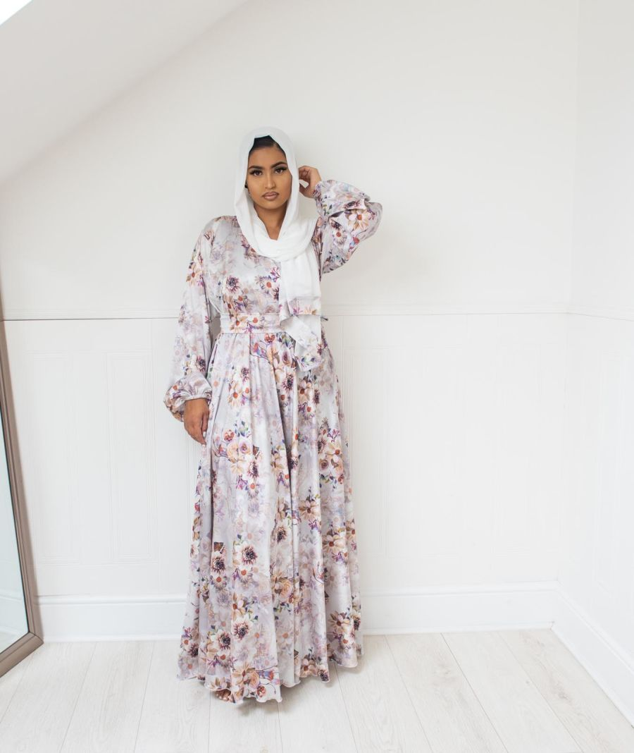 Amal Wrap flare in Winter Floral