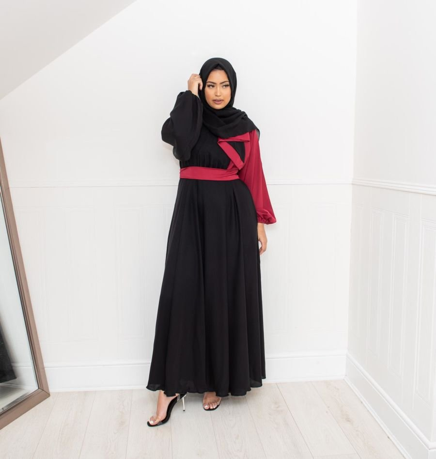 Amal wrap flare Black and Berry