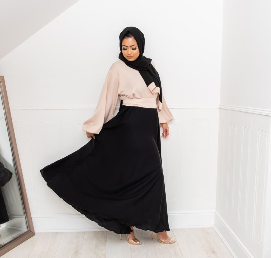 Amal blouse skirt in Black and Cream