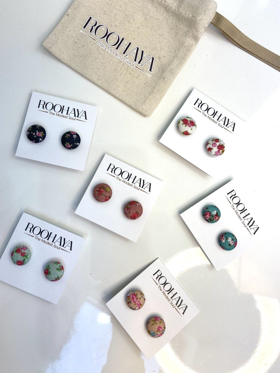 Shabby chic floral Magnet pins