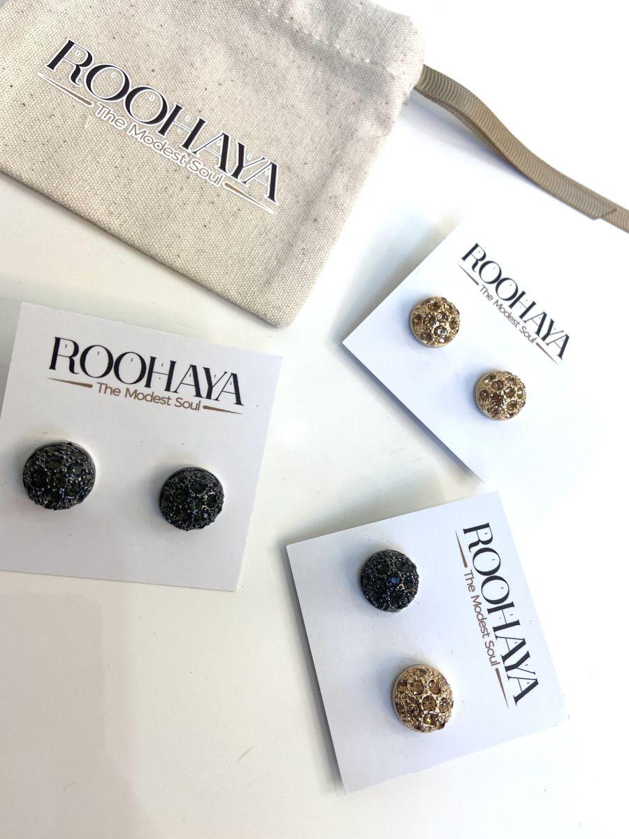 Diamonte ball Magnet pins