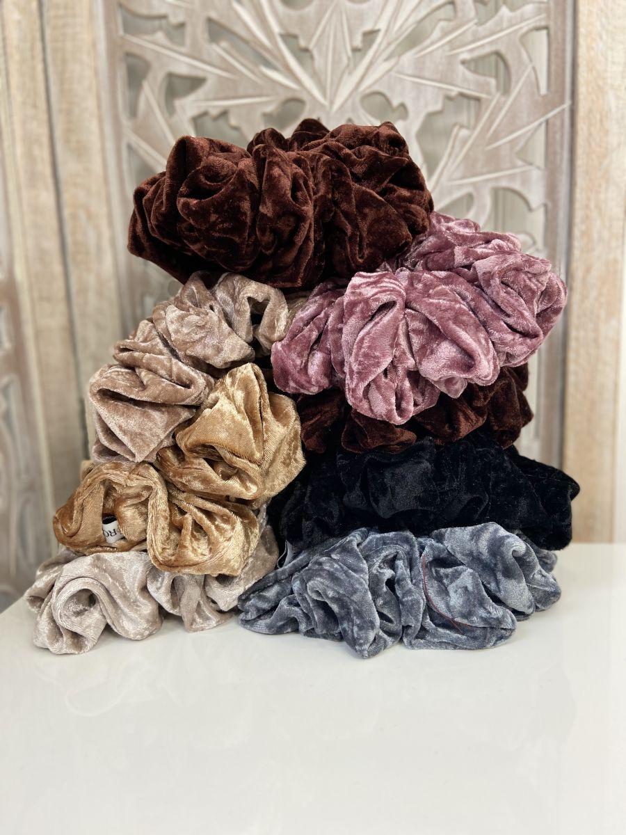 Crushed Velvet hijab scrunchie