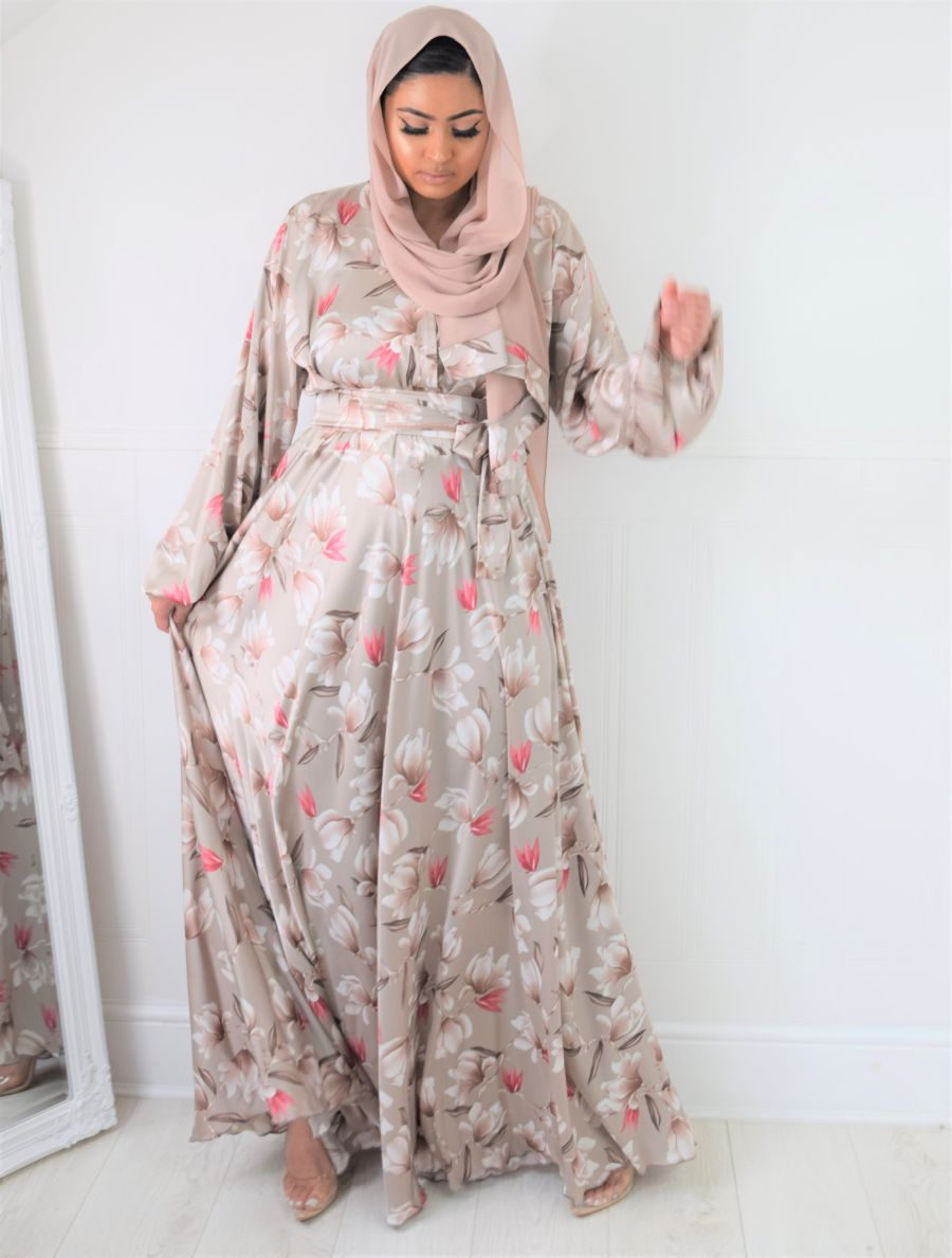 Amal Wrap Pearl Oyster Bloom pink