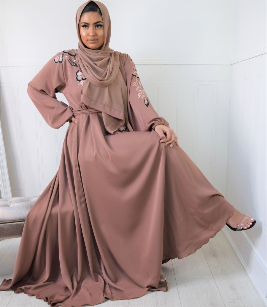 Amal wrap flare Blush Embroidered