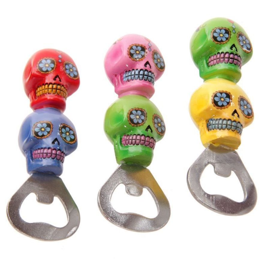 Candy Skull Mexican Day of the Dead Bottle Opener