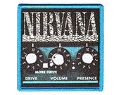 Nirvana Iron on Amp Patch Featuring the Classic  Amp Logo