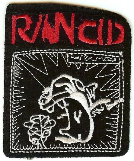 Rancid Iron on Patch featuring classic logo