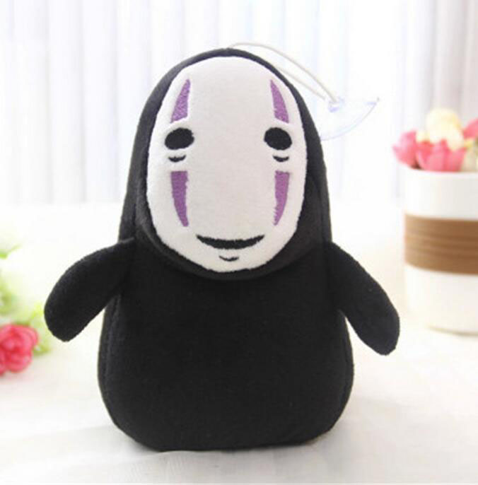 Black and Purple Spirited Away No Face Man Plushie