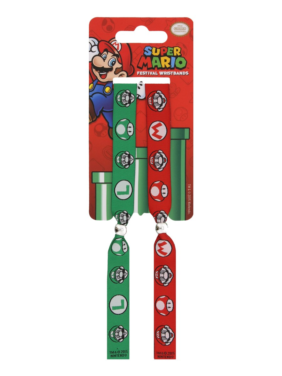 Super Mario Festival Wristbands