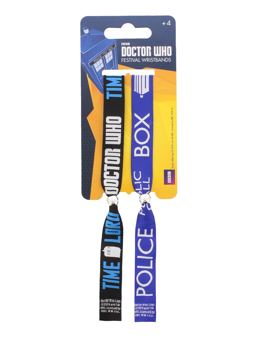 Doctor Who Festival Wristbands