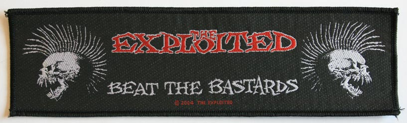 The Exploited - Beat The Bastard Black Patch