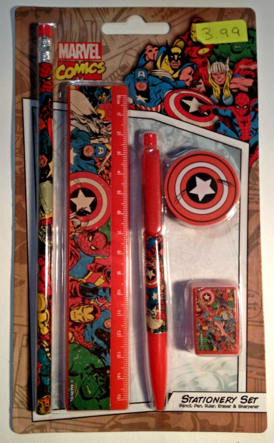 Marvel Comic Stationery Kit