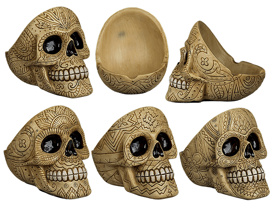 Ornament Skull Ashtray
