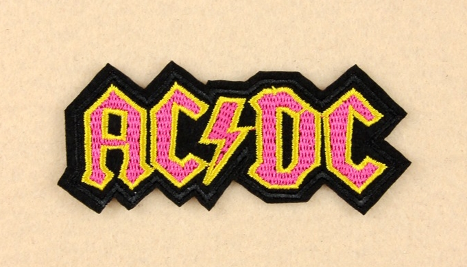 AC CD - Logo Iron Patch