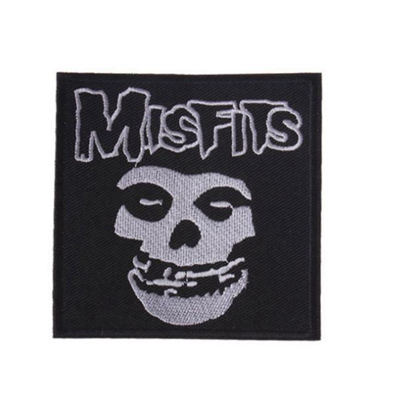 Misfits 'Fiend' Skull Iron On Patch