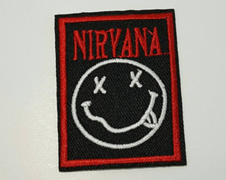 Nirvana black and red iron on patch