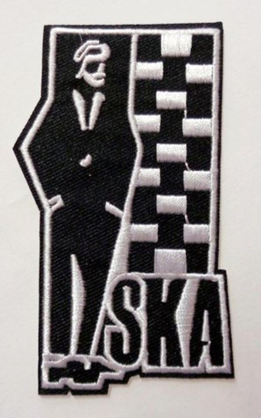 SKA Man Two Tone Logo Iron On Patch