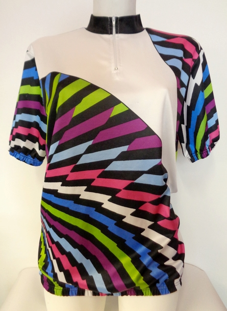 Vintage Women's 80's Sporty Cycle Top