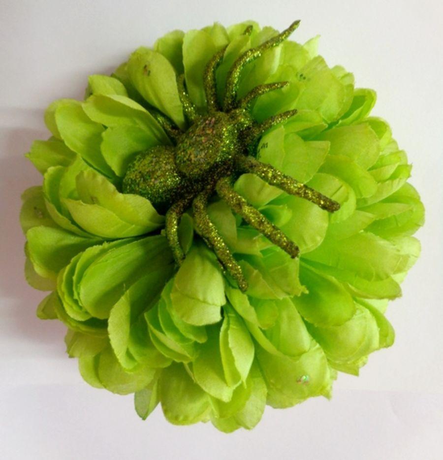 Voodoo Betty's Green Flower Hair Accessory