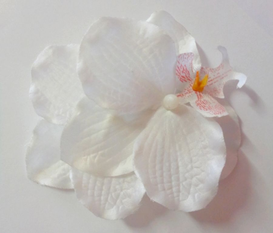 Voodoo Betty's White Orchid Hair Accessory