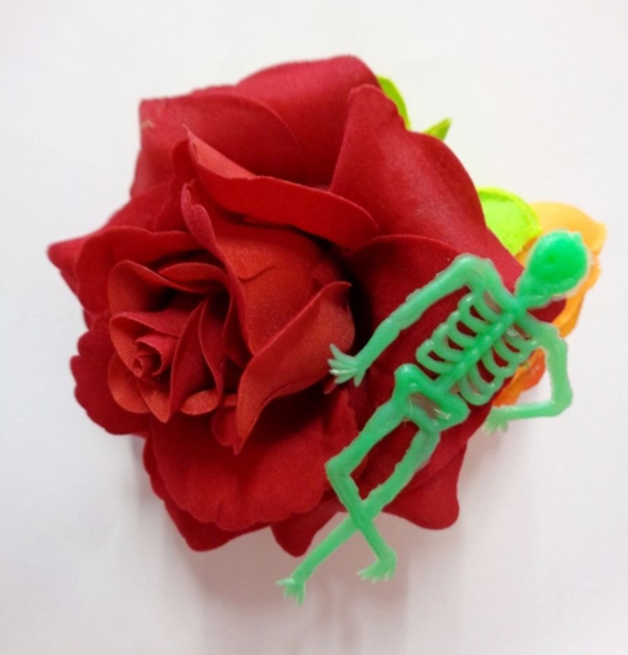 Voodoo Betty's Skeleton Rose Hair Accessory