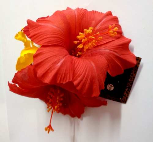 Voodoo Betty's Red Hibiscus Hair Accessory