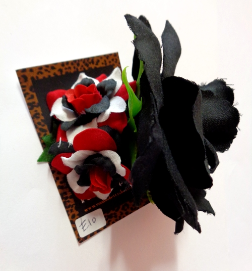 Voodoo Betty's Black And Multitone Roses Hair Accessory