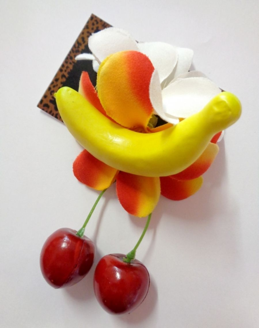 Voodoo Betty's Cherry And Banana Hair Accessory