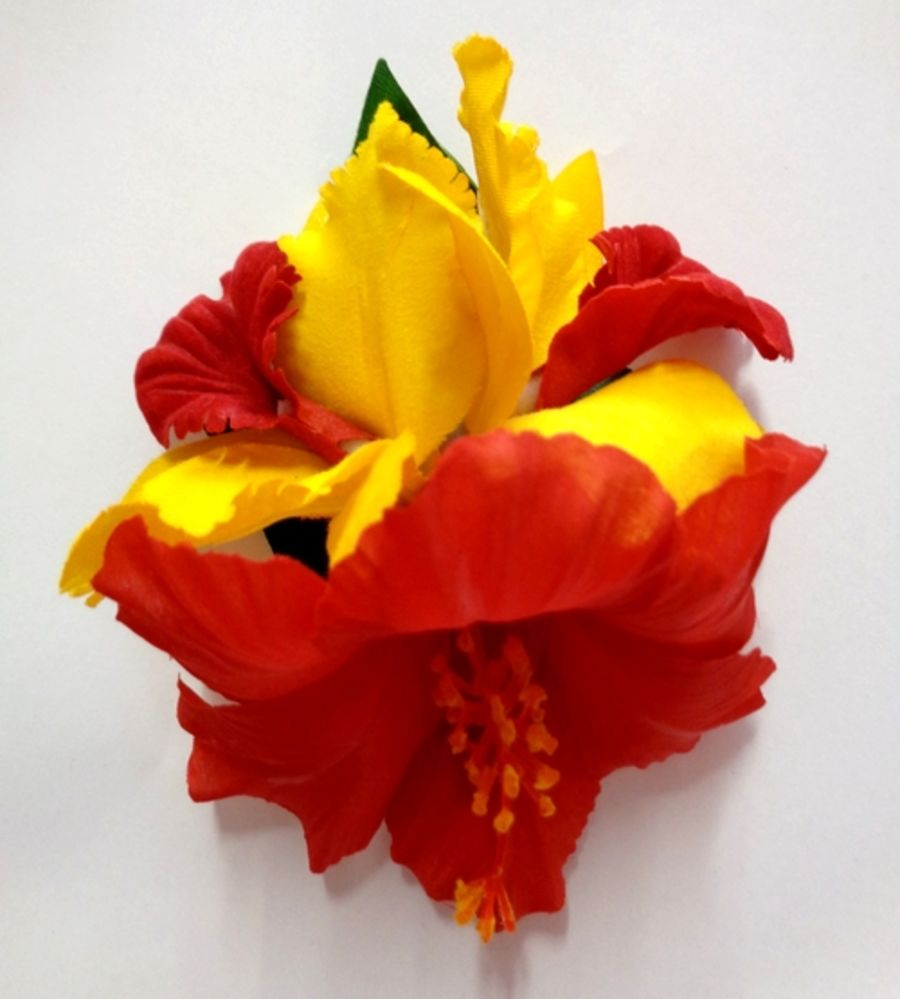 Voodoo Betty's Red And Yellow Lillies Hair Accessory