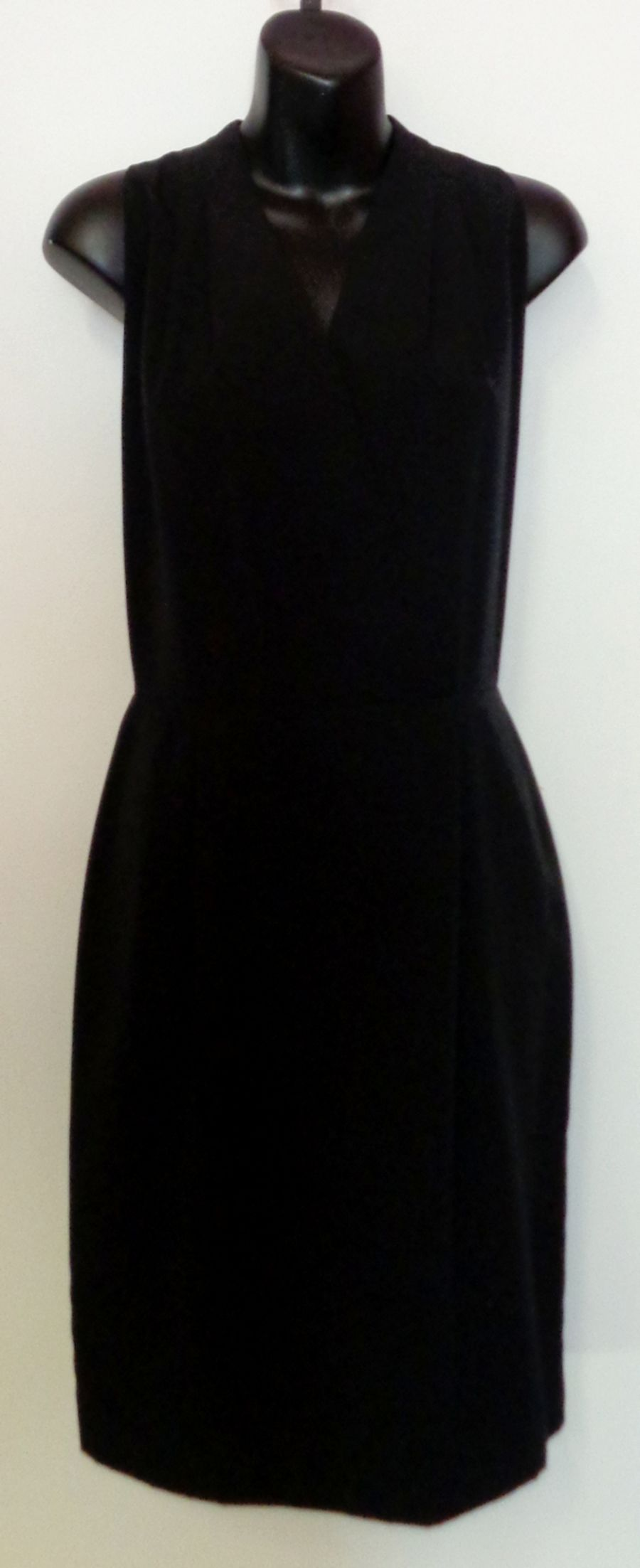 Vintage Black 80's Black Wrap Shift Dress