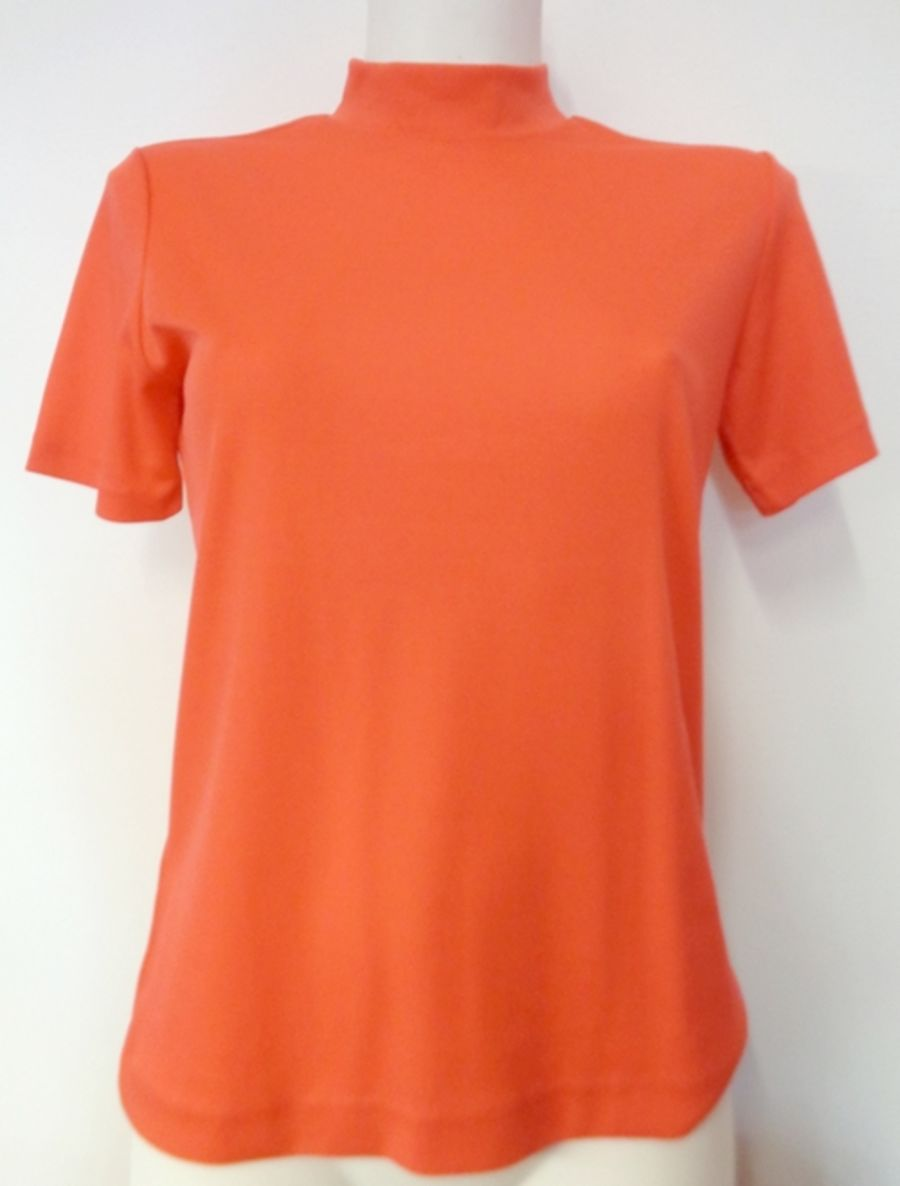 Vintage 1960's Coral Orange  Women's Top