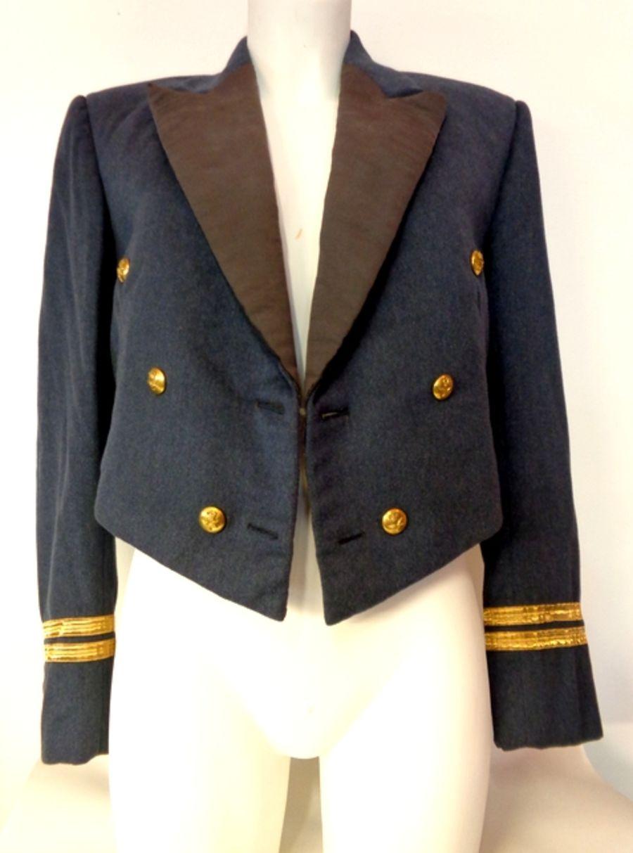 Vintage 1960's Wool Officers Cropped Formal Jacket
