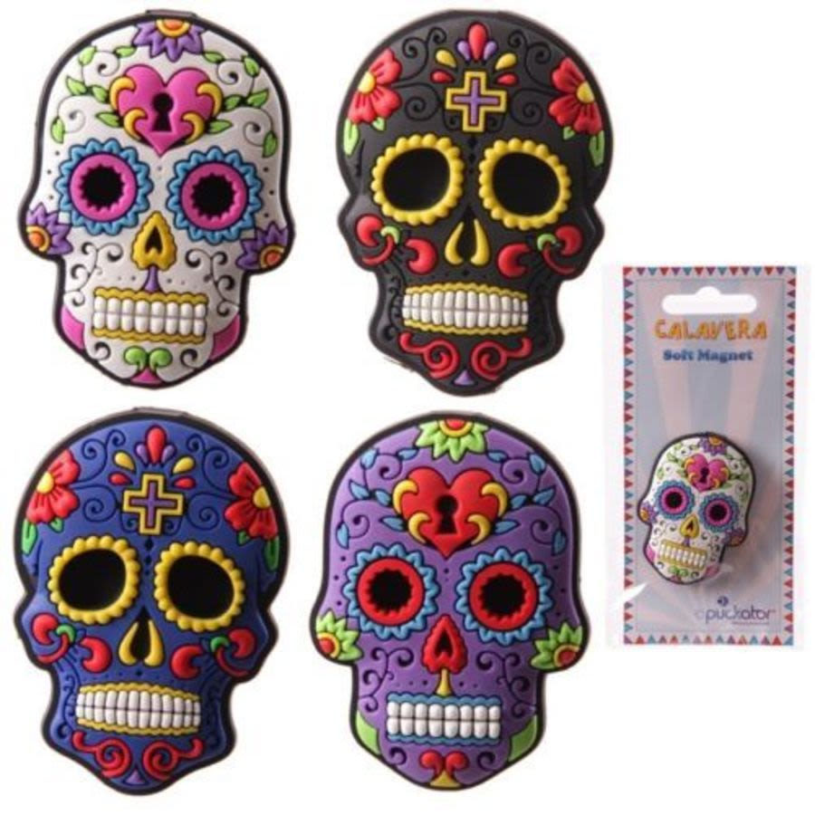 Day of The Dead Sugar Skull Fridge Magnet