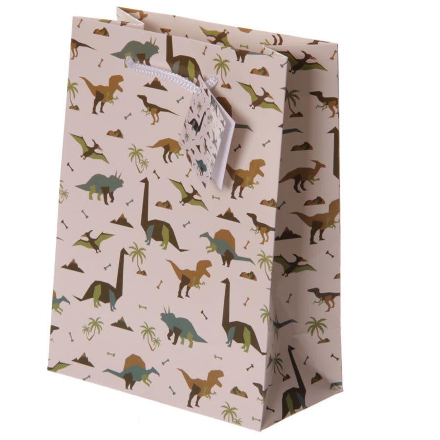 Dinosaur Motif Gift Bag Medium