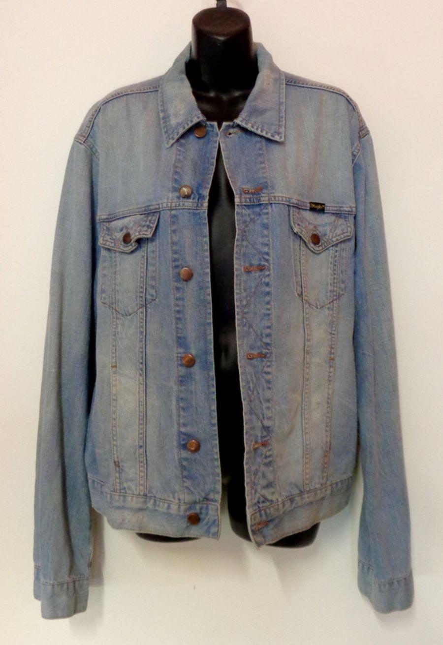 Vintage Pale Denim Bleach Wash Denim Jacket