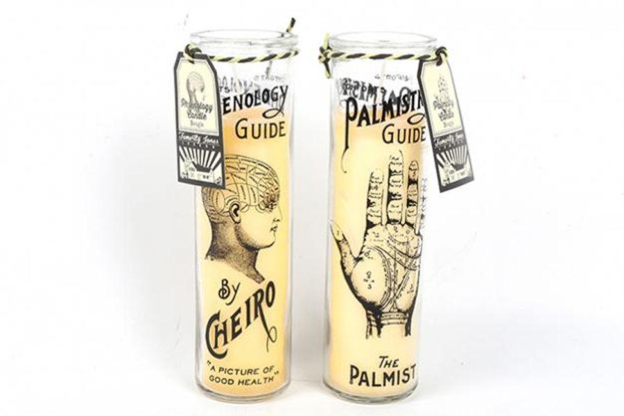 Palm/Phrenology Tall Candle Pot