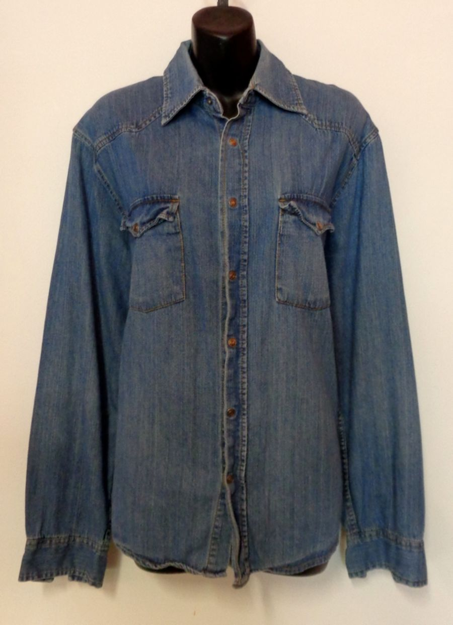 Vintage Oversized Long Sleeved Denim Shirt