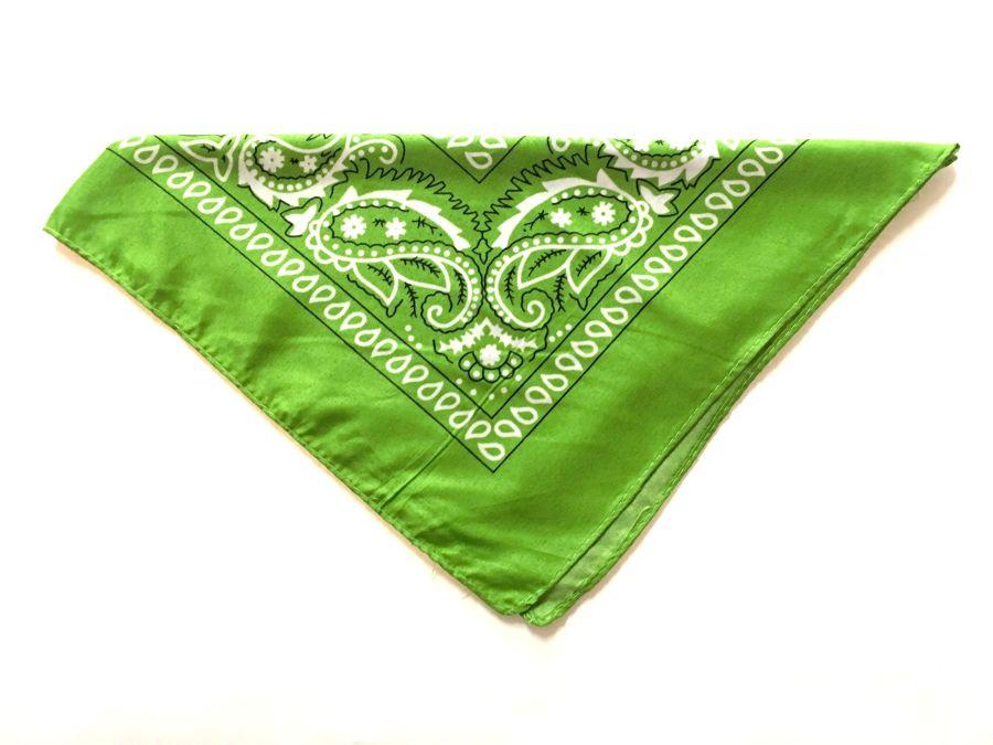Green Paisley Bandana