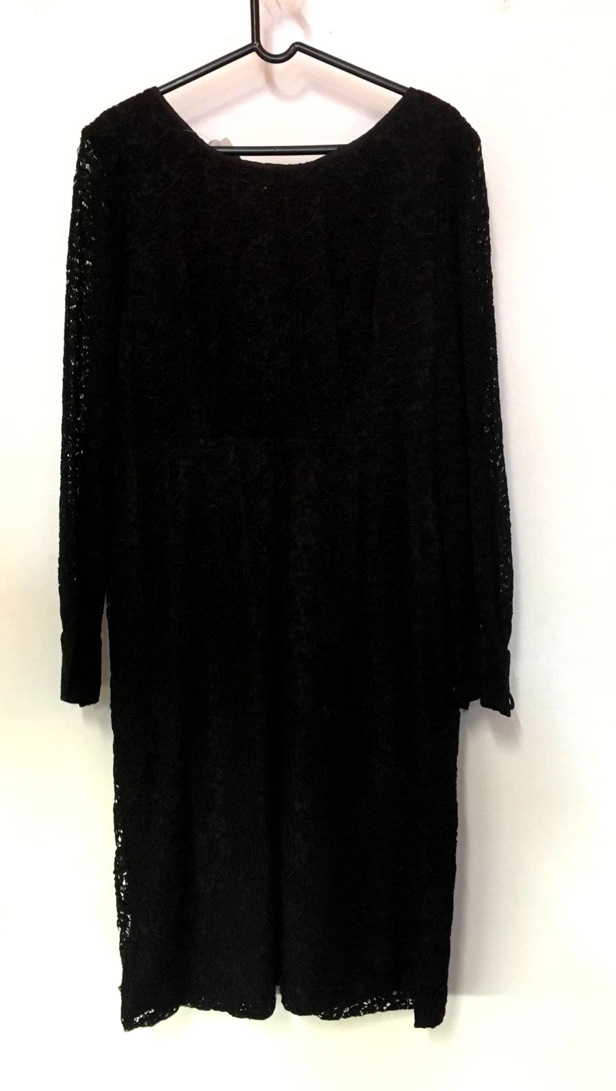 Vintage Womens 1960s Black Lace Dress