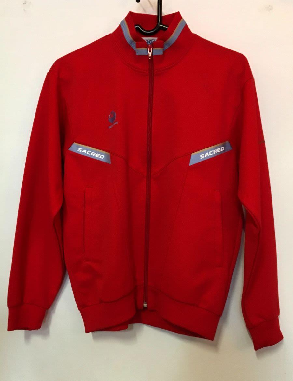 Red Vintage Asics Tracksuit Jacket