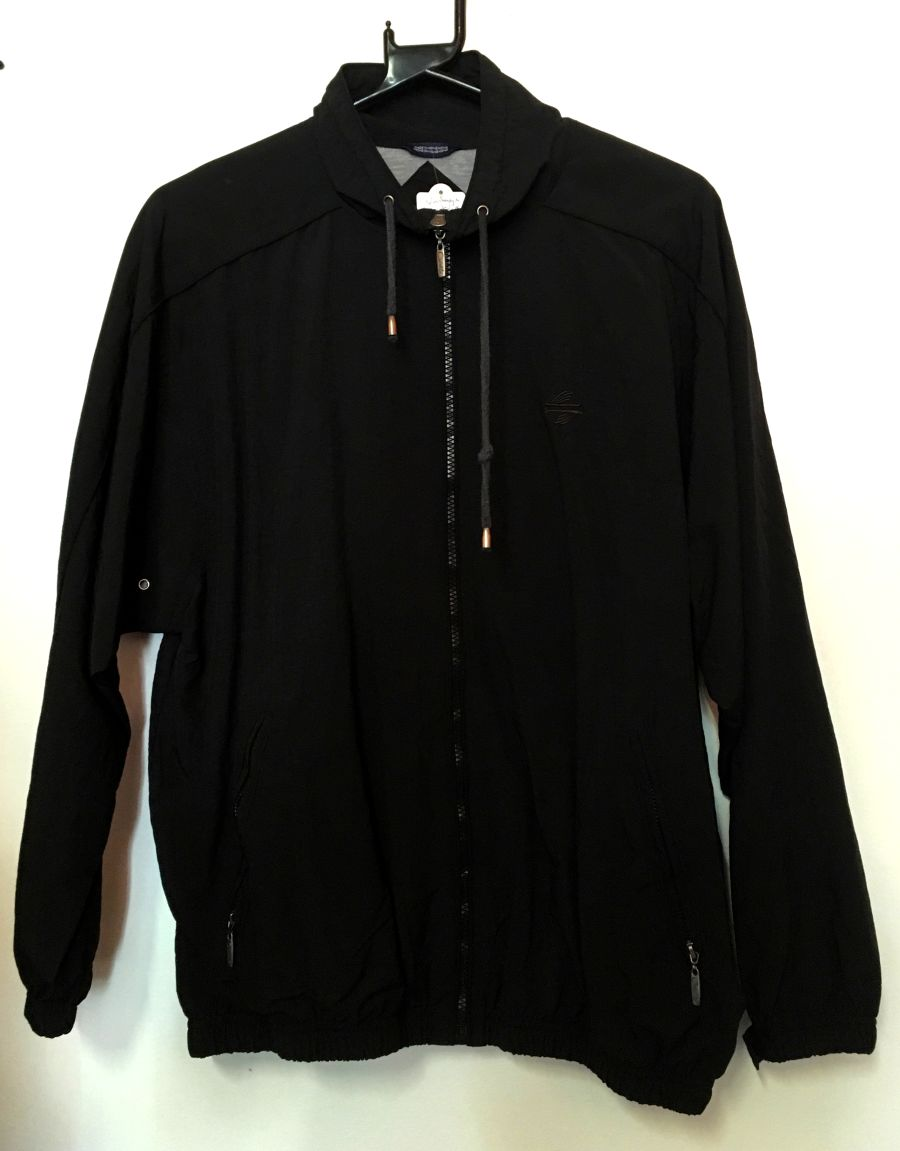 Vintage Black 90s Catalina Sportslux Shell Suit Jacket