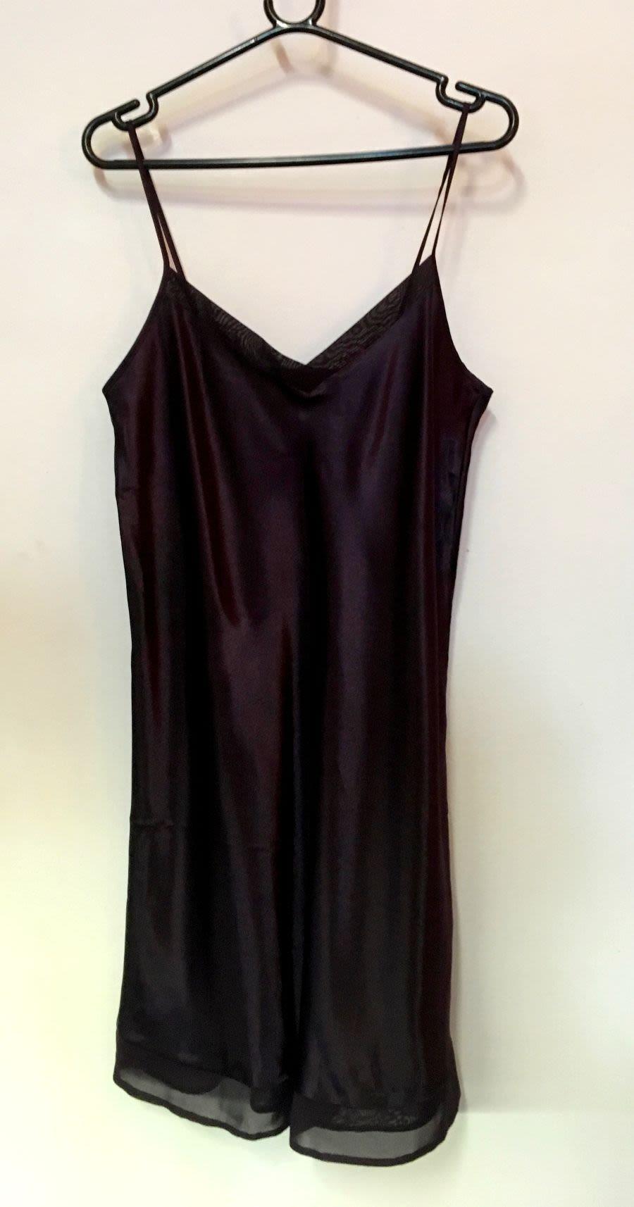 Vintage Womens 1990's Deep Purple Silk Slip Dress