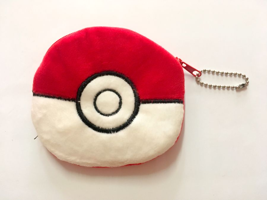 Silky Soft Pokeball Purse