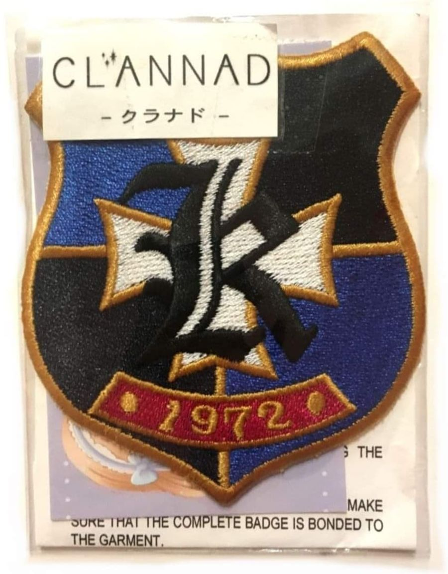 Blue Clannad R Iron On Patch