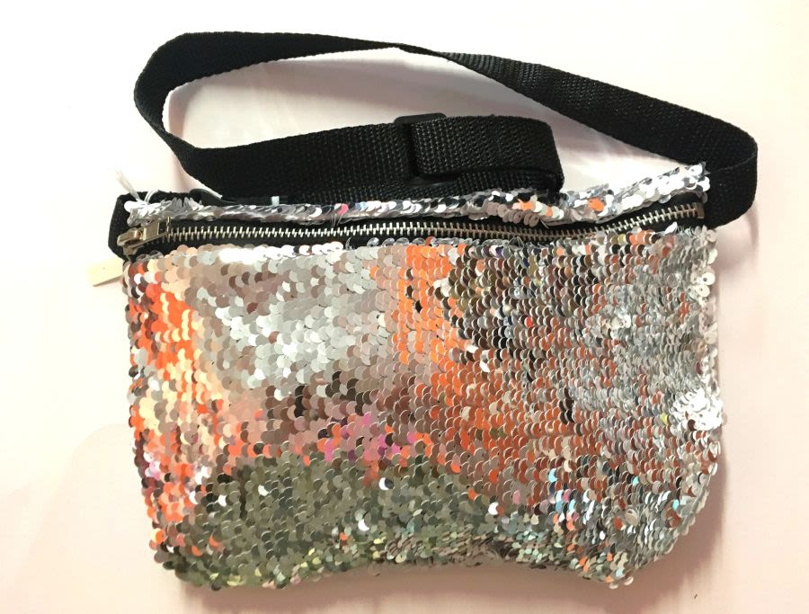 Silver Mermaid Touch Reversible Sequin Bum Bag