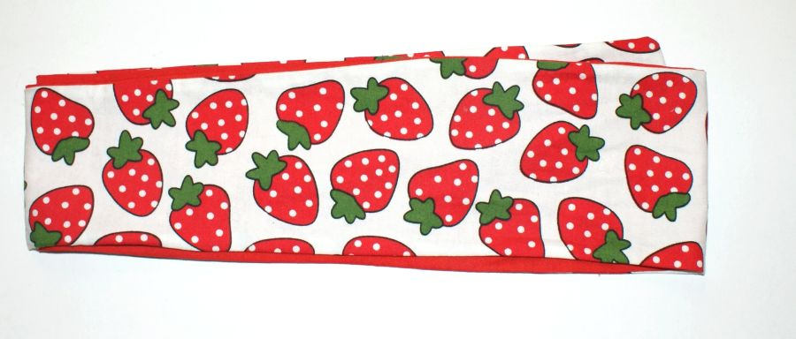 Reversible Strawberry Bandana